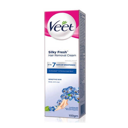 Buy Veet Silky Fresh Hair Removal Cream For Sensitive Skin 100g Online In Pakistan My Vitamin Store Hair Care And Personal Care