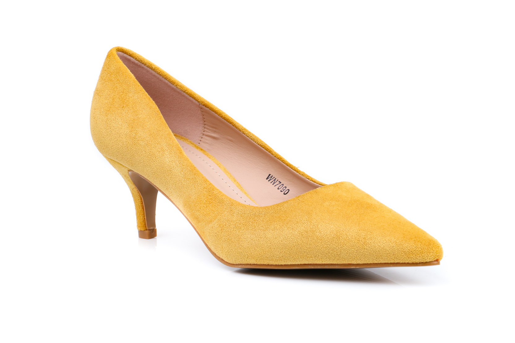 Mustard Color Winter Court Shoes WN7090